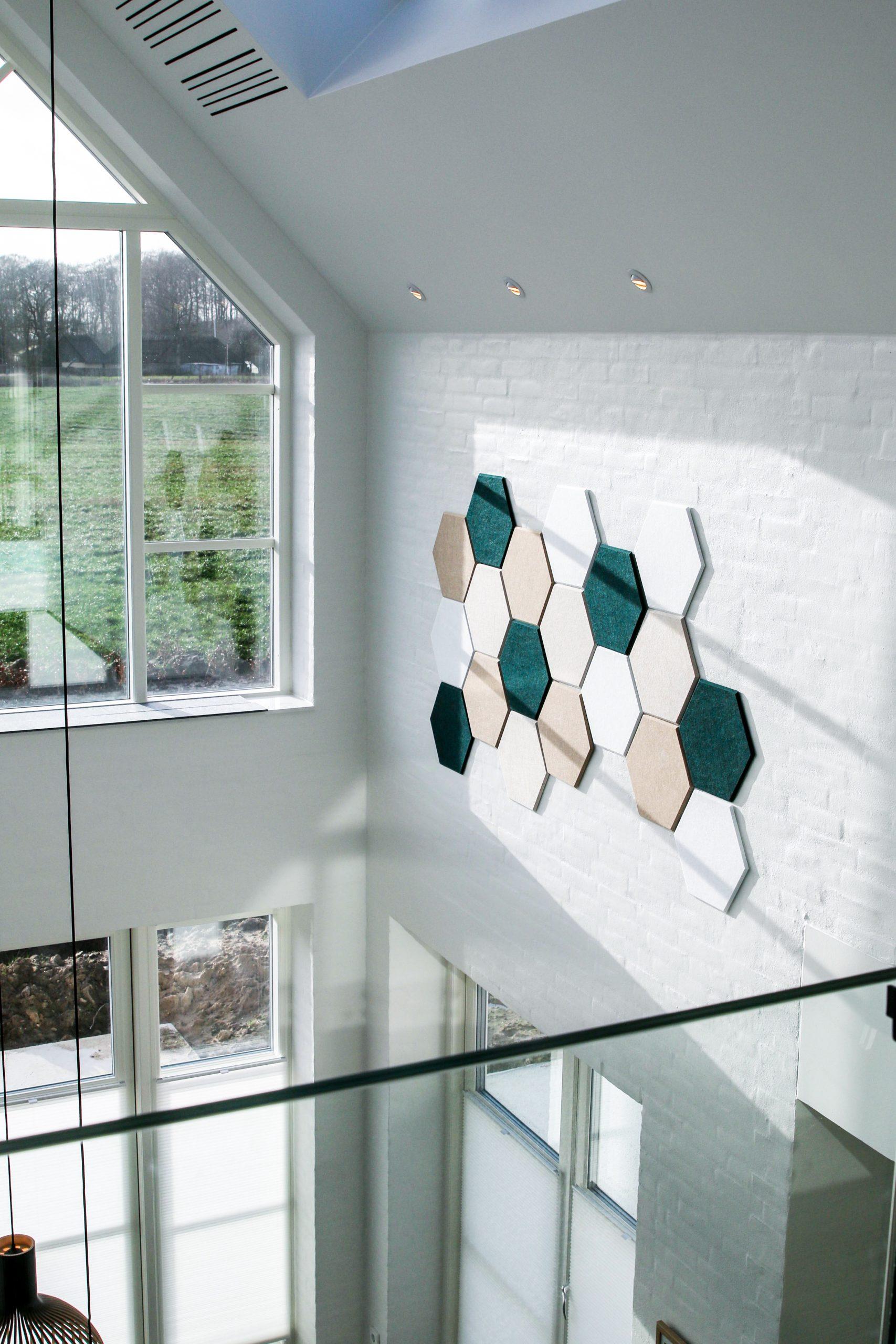 Hexagoner på væg