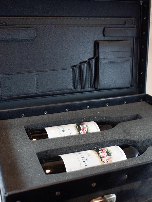 kuffertindlæg til vinflasker