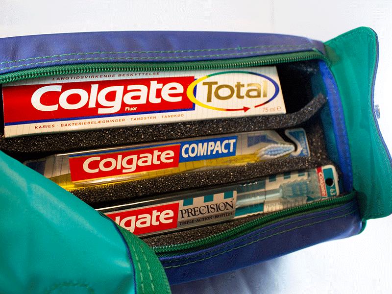 taskeindlæg i skum til tandpasta