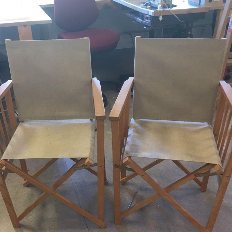 Ompolstring af klapstole - efter